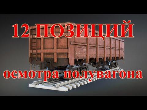 12 позиций осмотра грузового вагона