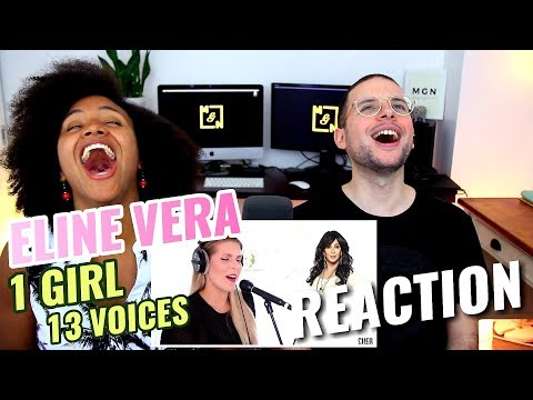 Eline Vera - 1 GIRL 13 VOICES | Ariana Grande, Lady Gaga, Selena Gomez & Many More | REACTION