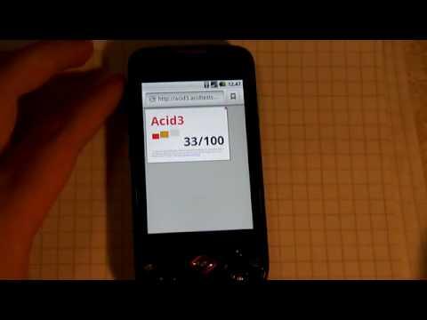 Samsung Galaxy Spica - Acid3-testi