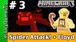 Minecraft Floyd 3 Double Spider Attack Xbox 360 Game play HobbyPig  HobbyFrog by HobbyGamesTV