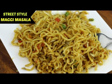 Masala Maggi Recipe | Maggi banane ki recipe in Hindi | Indian Street Style Veg Maggie Noodles |