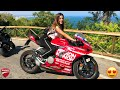 HO PORTATO LE MIE AMICHE SULLA MIA DUCATI PANIGALE V2!! DRIVING REACTIONS EP.5