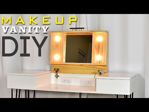 How to make a MAKEUP VANITY | DIY