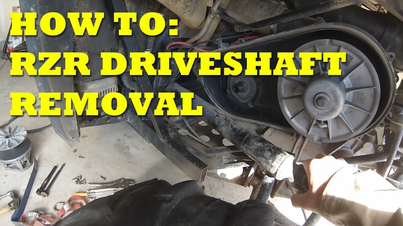 medium resolution of rzr driveshaft propshaft removal how to