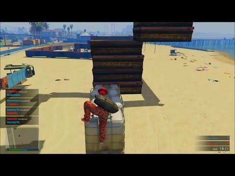GTA 5 - Parkour Deathmatch - BEACH PARKOUR