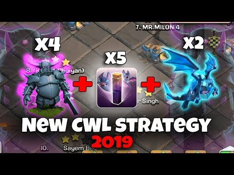 New CWL Strategy 2019! Pekka ElectroBat Attack Destroy 3Star Max TH12 Base (Updated) Clash Of Clans