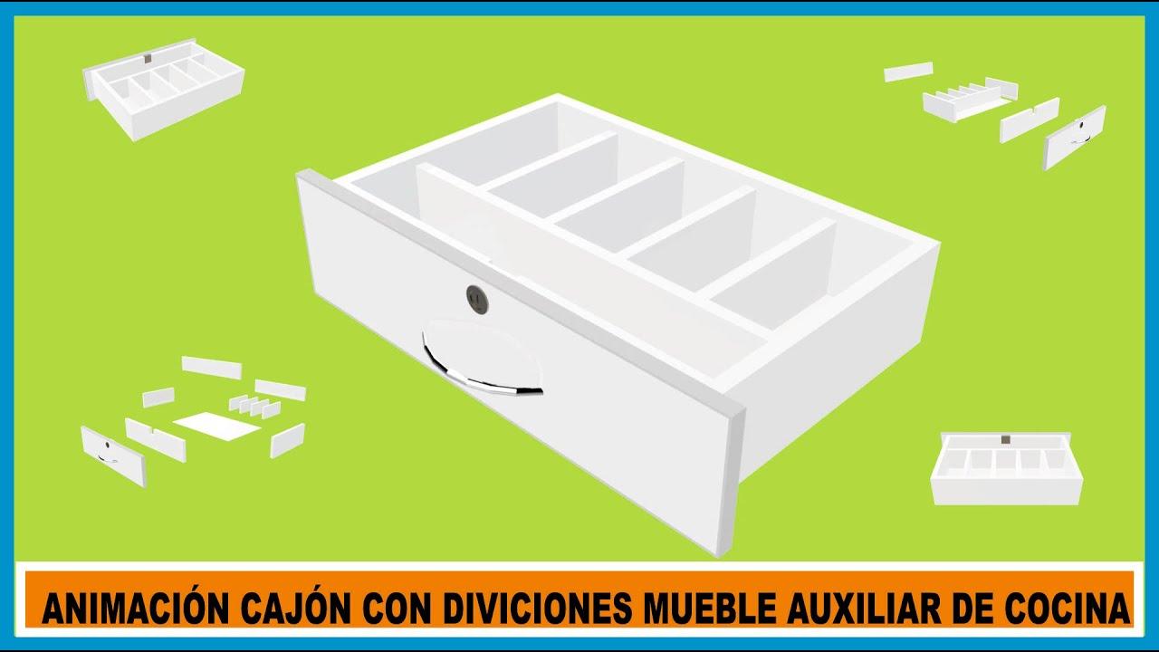 V deo animaci n de caj n de melamina para mueble auxiliar for Gabinetes de cocina 2016