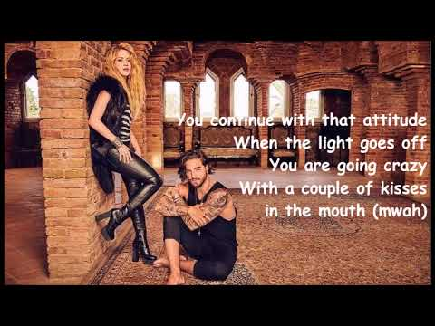 Shakira ft. Maluma  - Clandestino letra/english lyrics
