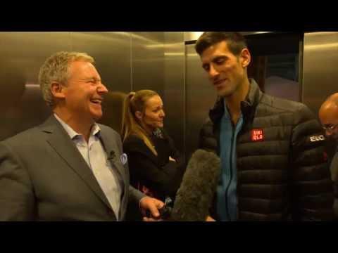 Djokovic Joined By Jelena On Final Showdown Press Tour