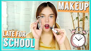 LATE FOR SCHOOL MAKEUP TUTORIAL | 5 MINUTE MAKEUP (Drugstore) | Philippines