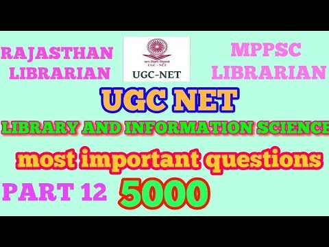 UGC NET Library science most important questions