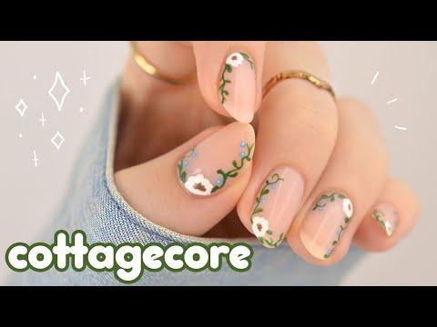 *✧・゚Minimalistic Cottagecore Nail Art 2021 ・゚✧*