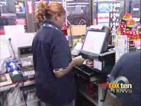 Clerk takes out robber