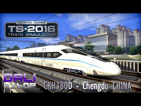 Train Simulator 2016 CRH380D Chengdu CHINA PC UltraHD 4K Gameplay 60fps 2160p