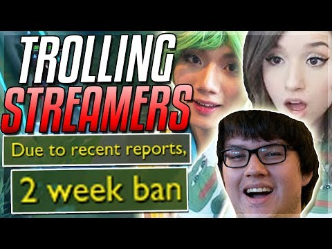 "TROLLING STREAMERS ""2 Week BAN"" ft. Dyrus, Pokimane, BoxBox, Yassuo & MORE! - League of Legends"
