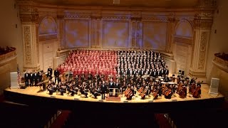 Mormon Tabernacle Choir Performs at Carnegie Hall in New York City