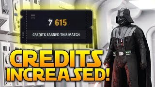 CREDIT GAIN INCREASED (Live now!) - Star Wars Battlefront 2