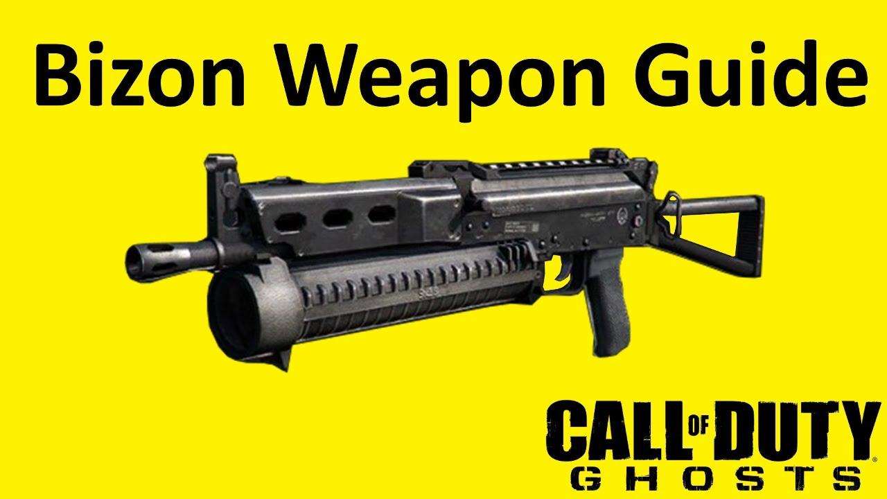 Bizon submachine gun weapon guide call of duty ghosts best soldier