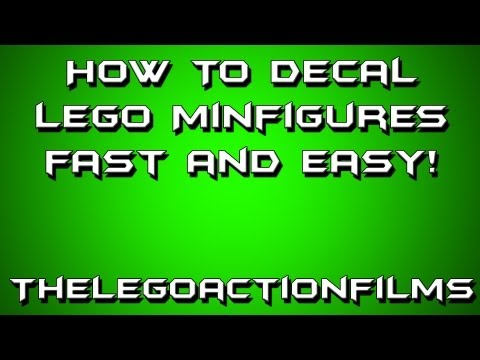 How to Decal Your Lego Minfigures! FAST AND EASY!