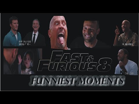 TOP FUNNIEST MOMENTS IN FAST AND FURIOUS 8 (WATCH BEFORE IT'S TAKEN DOWN)