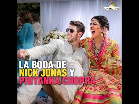 As铆 fue la Boda de Nick Jonas y Priyanka Chopra