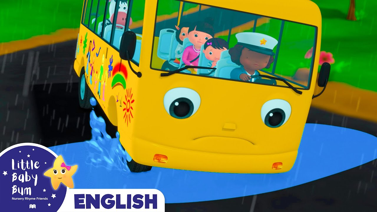 Wheels on the Bus on a Rainy Day - Let's learn English! - Little Baby Bum | अंग्रेजी सीखिये