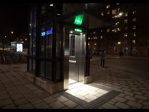 Sweden, Stockholm, Zinkensdamm Subway Station, SMW elevator