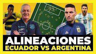 Alineaciones de Ecuador vs Argentina | Cuartos de Final Copa América 2021🏆