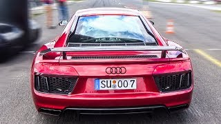 Audi R8 V10 Plus 2017 - BRUTAL LAUNCH CONTROL!