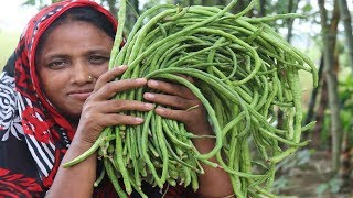 Farm Fresh Long Bean Recipe Delicious Healthy Cooking Green Borboti With Fish Curry Village Food