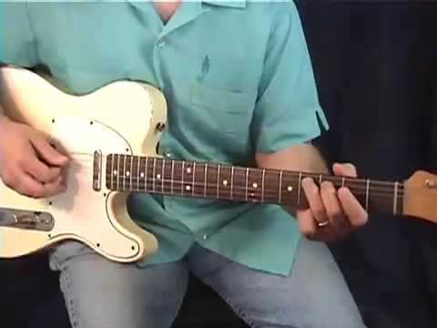 HOT COUNTRY GUITAR LICKS IN A - DAVE ANDERSON - www.OnlineLessonVideos.com
