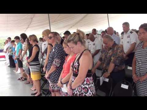 USS Emory S. Land (AS 39) Hosts Change of Command