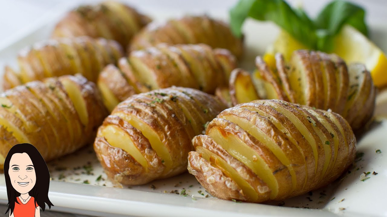 Baked garlic hasselback potatoes no oil recipe youtube baked garlic hasselback potatoes no oil recipe ccuart Image collections
