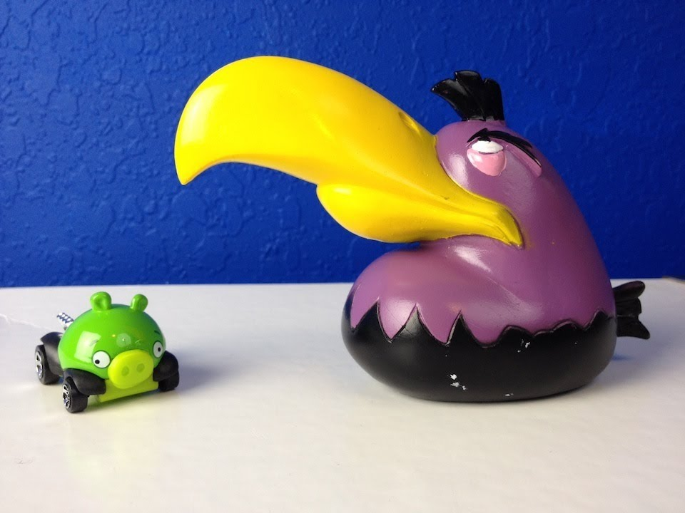 Angry Birds Hot Wheel And Mighty Space Eagle Toys Youtube