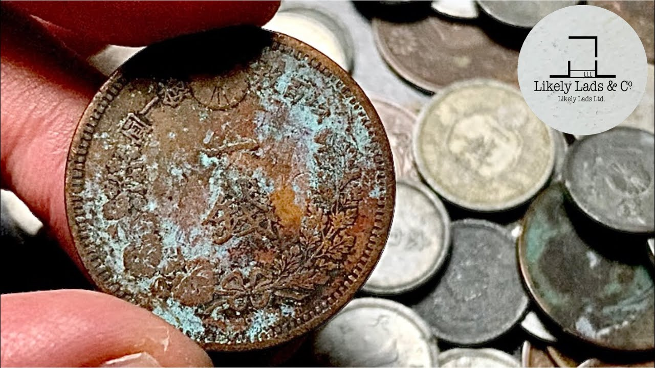Restoration old coins 1883 ASMR コイン磨き 一銭 明治16年 古銭