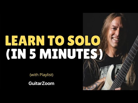 Learn To Solo In 5 Minutes - Beginner Guitar Lesson - 6 Note Soloing Technique