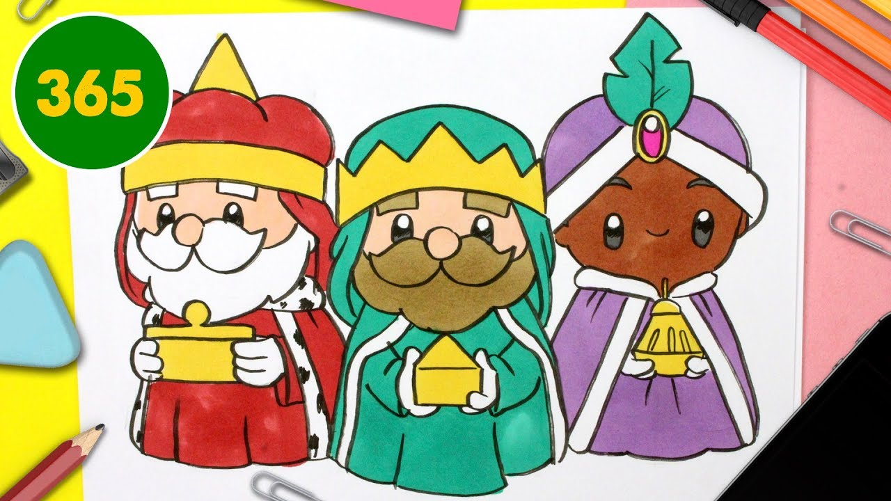 Comment Dessiner Les Rois Mages Kawaii Dessins De Noel Faciles Youtube