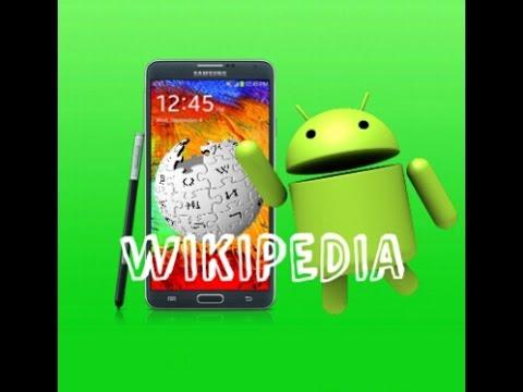WIKIPEDIA para android//busca informacion//GRATIS