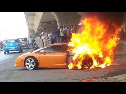 Lamborghini Supercar Destroyed by Fire