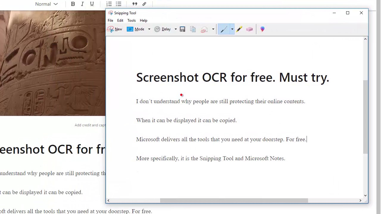 Screenshot OCR for Free - IP Lawyer Tools