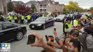 Khalifa of Islam Ahmadiyya arrives in Peace Village Toronto, Canada
