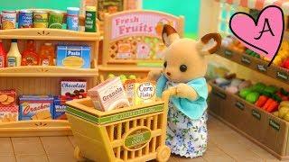 de compras en el mercado review y unboxing del supermercado de calico critters