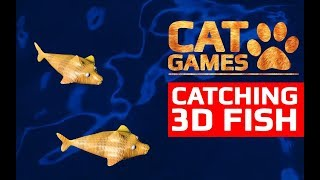CAT GAMES - 🐟 CATCHING 3D FISH (Entertainment Video for Cats to Watch) 60FPS