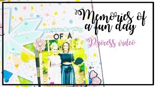 Memories Of A Fun Day Layout By LISA FONSECA, Using Cut File And PL Kit