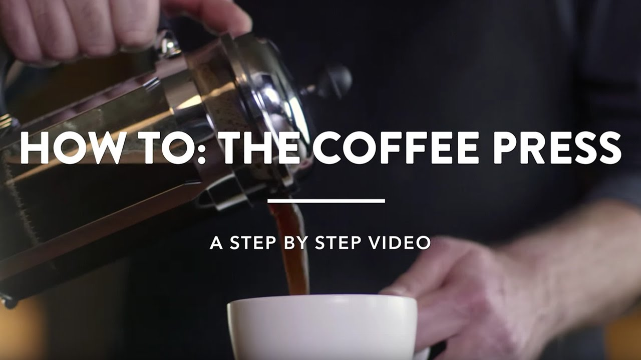 Starbucks How To Brew A Coffee Press Youtube