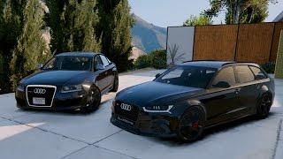 GTA V | AUDI RS6 C6 VS. AUDI RS6 C7 | GTA 5 MOD