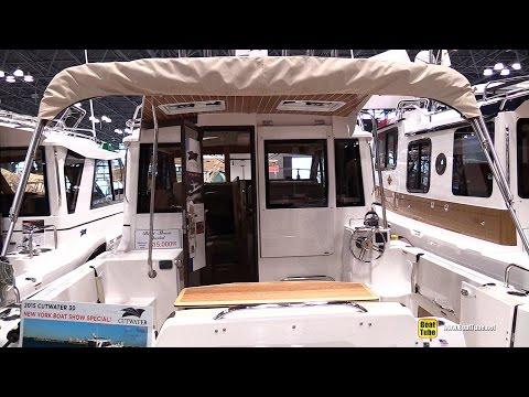 2015 Cutwater 30 Fishing Boat - Walkaround - 2015 New York Boat Show