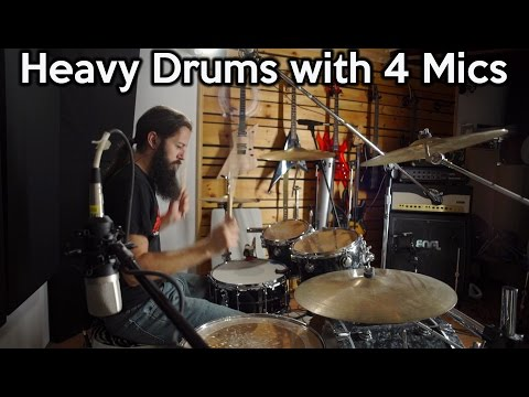 "Heavy Drums with 4 Mics -  The ""Glyn Johns"" Technique 