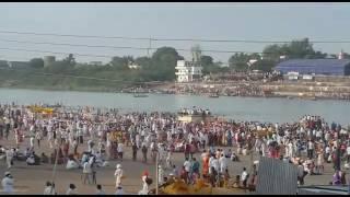 Huge crowd of Warkari in Pandharpur, Maharashtra