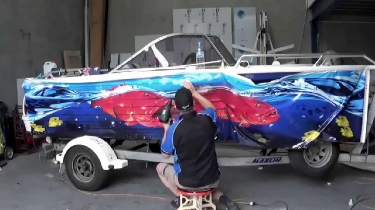 Boat Graphic Wrap Quintrex Freedom Sport Graphic Wraps